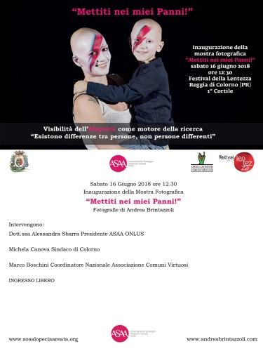 """Giugno 2018 Festival della Lentezza - Mostra Fotografica: """"Mettiti nei miei Panni!"""""""