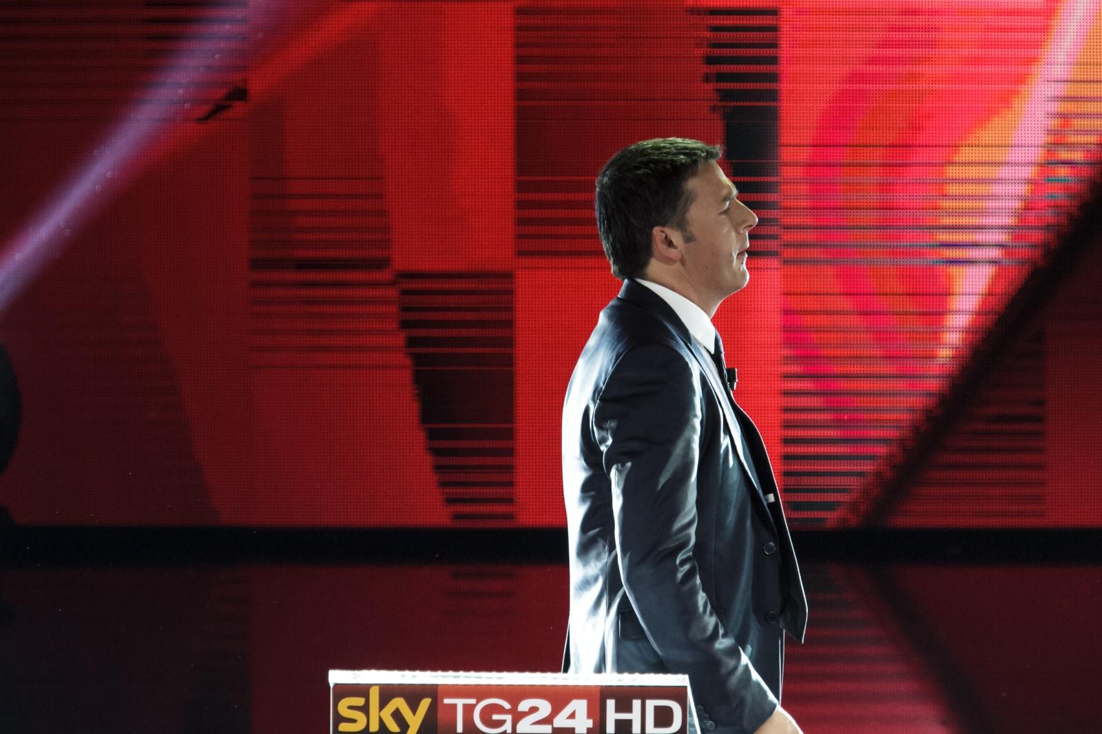Matteo Renzi - Milano 29 Novembre 2013 Il confronto tra i candidati PD Nella Foto: Matteo Renzi Foto Copyright Andrea Brintazzoli