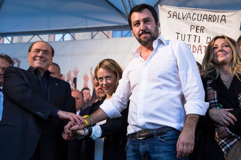 Berlusconi Meloni Salvini